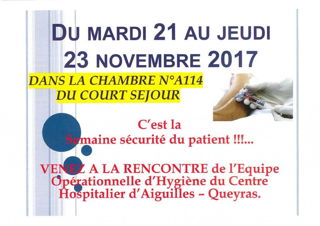 sécurité patient 2017