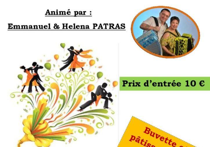 Affiche THÉ DANSANT Manu PATRAS